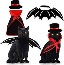 Pet Costumes Cat Cosplay 3 PCS, Vampire Cloak ... - Amazon.com