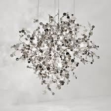 silver italian designer pendant light