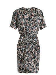 isabel marant rehora fl print silk habotai dress washed black womens isabel marant barneys professional