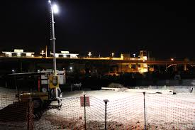 Road Construction Lights Solar Light Towers From King Solarman Inc Are Used At