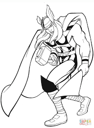 Small Picture Marvel Thor coloring page Free Printable Coloring Pages