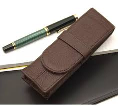 japanese leather pen case 2 fountain pens books stationery stationery on carou