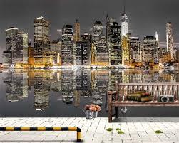 New York City Wallpaper For Bedroom Popular City Night Wallpaper Buy Cheap City Night Wallpaper Lots