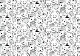 Coloring Pages Kawaii Coloring Pages A Cute And Page Featuring