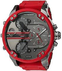 diesel mr daddy 2 0 red metal mens watch dz7370 image is loading diesel mr daddy 2 0 red metal mens