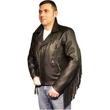 mens fringed leather jacket