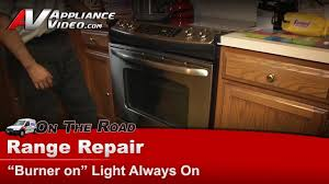 Oven On Light Won T Turn Off Range Stove Repair Burners Are Off Light Staying On Ge Hotpoint Rca Jsp46sp1ss