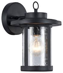 1 light outdoor wall sconce textured black 10