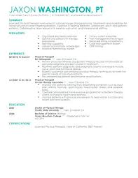 Sample Pta Resume Custom Example Physical Therapist Resume Graceful Sample Examples Of Top