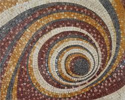 swirl abstract mosaic