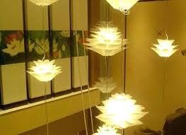 puzzle lotus flower chandelier pendant light lamp shade hanging capiz shell best
