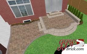 brick patio design installation in