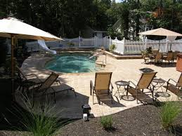 pool patio ideas. Beach Seats Umbrella Inground Swimming Pool Patio Ideas 2202