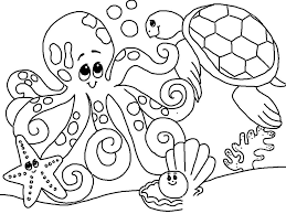 Small Picture Free Under the Sea Coloring Pages to print for kids