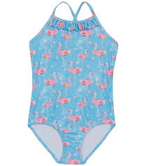 Snapper Rock Size Chart Snapper Rock Girls Blue Flamingo Classic Crossback One Piece Swimsuit Toddler Little Kid At Swimoutlet Com