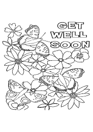 Get Well Coloring Pages For Printable Jokingartcom Get Well