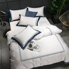 5 star hotel white luxury 100 egyptian cotton bedding sets full queen king size duvet