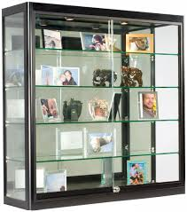 ... Wall Mounted Display Shelves Collectibles Clear Glass Shelf For Photo  Frame 3x3 Wall Mounted Display Case ...