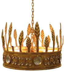 gold crown hanging pendant light ornate jeweled royal princess decor victorian pendant lighting by my sy home