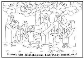 Kleurplaten Categorie Jezus Zegent Kinderen Download