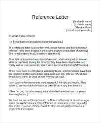 Tenant Reference Letter Template