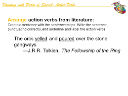 Action Verbs Beauteous Painting With Parts Of Speech Action Verbs Ppt Video Online Download