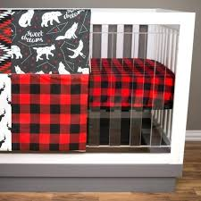 plaid crib bedding image 0 grey buffalo plaid crib bedding