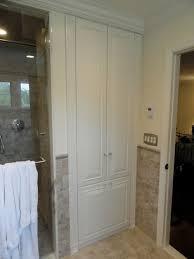 built in linen closet home design ideas pictures remodel bathroom linen closet organization ideas