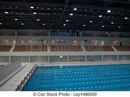 Competition pool Olympic size swimming pool with tribune stock