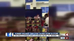 Walmart Palatka Fl Fired Walmart Employee Tantrum Caught On Camera In Southwest Florida