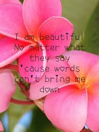 I Am Beautiful No Matter What They Say Quotes