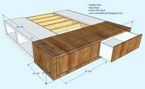 king size bed frames with storage white projects frame plans california diy