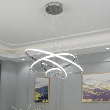 modern rings led chandelier chrome