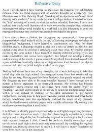 reflective essay learning english personal reflection of my learning style uk essays