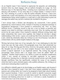 reflective essay learning english personal reflection of my learning style uk essays