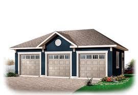 garage plan 76153 area 768 sq ft 3 bays 32 x 24 3cargarage garageplan
