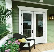 white exterior french doors. Entry Doors JELD-WEN White 1 Lite French Green Porch EB Door Exterior