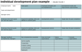 individual development plan examples one good idea steer your career