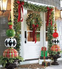Christmas Scenes - Holiday Scene - Christmas Front Door - Decorations