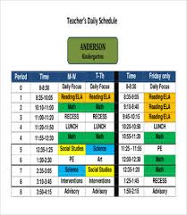 Teacher Daily Schedule Template Free Classroom Daily Schedule Template Sinma Carpentersdaughter Co