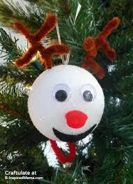21 DIY Styrofoam Ball Christmas Ornaments  Reindeer Christmas Ornaments  for Kids to Make