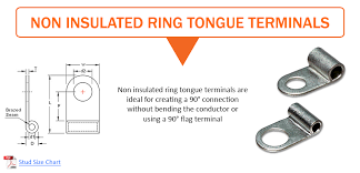 Non Insulated Flag Terminals Ring Tongue