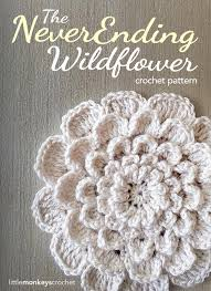 Crochet Flower Pattern Adorable Crochet Flower Applique AllFreeCrochet