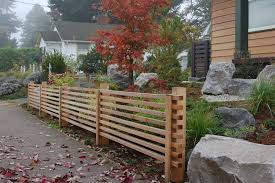 japanese fence design. Wonderful Fence Afteru0026nbsp The Cedar Screen Hides The Retaining  In Japanese Fence Design