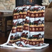 horses multi throw blanket