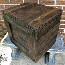 rustic wood boxes large wooden crate with hinged lid handmade reclaimed side table storage nz