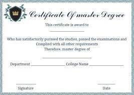 degree certificate templates master degree diploma certificate template masters degree
