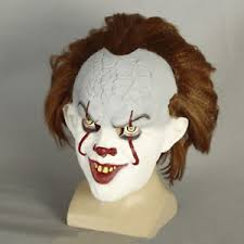 pennywise the dancing clown bob gray mask it horror helmet latex la foto se estatildeiexcl cargando pennywise el baile payaso bob gris mascara halloween