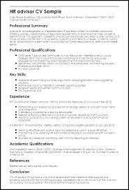 Human Resource Resume Format Sample Hr Resume Hr Sample Resume