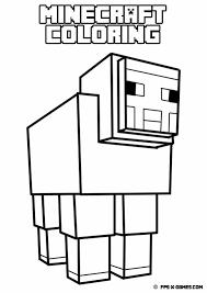 Printable minecraft coloring sheep